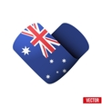 Flag icon in the form of heart I love Australia vector image