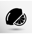 sign Lemon logo unusual stylized slice agriculture vector image
