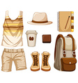 Accessories for hipster boy vector image vector image