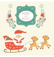 Merry Christmas card with cute Santa Claus and vector image vector image
