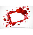 greeting card with two hearts vector image vector image
