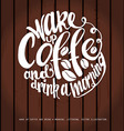 Chalkboard Poster Lettering Coffee vector image