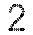 number set from coffee beans vector image