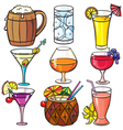 Drinks cocktails icon set vector image vector image