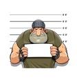 Angry criminal man vector image
