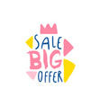 big sale offer logo template special offer label vector image