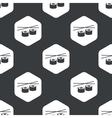 Black hexagon sushi pattern vector image