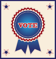 Blue Election Ribbon and Stars Design Element vector image