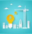 creative idea planning with crane vector image
