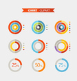 Graphic business ratings and charts Flat vector image