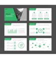 Infographic elements for presentation templates vector image