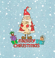 Santa Claus and presents vector image