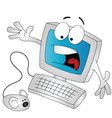 scared computer vector image