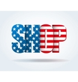 Typography Internet Logo USA shop vector image