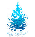 water christmas tree vector image