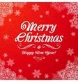 White ornate Merry Christmas sign vector image