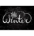 Winter text lettering with snowflake Seasonal vector image