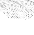 Wireframe Area Mesh Polygonal Surface vector image