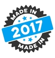 Made In 2017 Stamp Flat Icon vector image