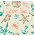 Decorative sea pattern vector image