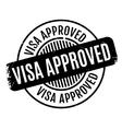 Visa Approved rubber stamp vector image