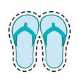 flip flops sandals icon image vector image