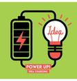 Light bulb Idea Charging Battery Power vector image