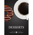 Dessert Menu with Coffee and Donut vector image