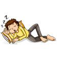 A man sleeping vector image
