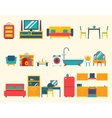 Furniture House Interior Icons and Symbols Set vector image vector image