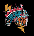 Hip hop graffiti vector image
