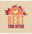 Best Tours Offers vector image