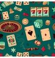 Seamless casino hand drawn pattern vector image