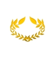 Gold laurel wreath cartoon icon vector image