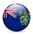 A badge in colours of pitcairn islands flag vector image vector image