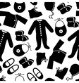 baby clothes pattern vector image vector image