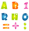 abstract text vector image