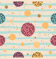 cute seamless pattern with colorful ball on paper vector image