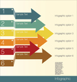 Infographics options banner with arrows vector image