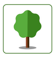 Maple tree icon Flat design vector image