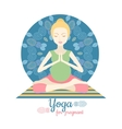 Pregnant Woman Doing Yoga isolated on white Yoga vector image