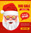 santa claus christmas sale poster vector image