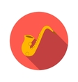 Saxophone flat icon vector image