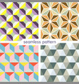 set of four seamless geometrical patterns 9 vector image
