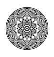 black circle mandala vector image