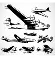 retro airplanes vector image vector image