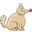 spitz dog cartoon vector image vector image