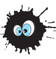 Blot with eyes vector image