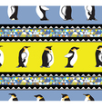 texture with penguins and a triangular design vector image