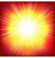Red Burst Background vector image